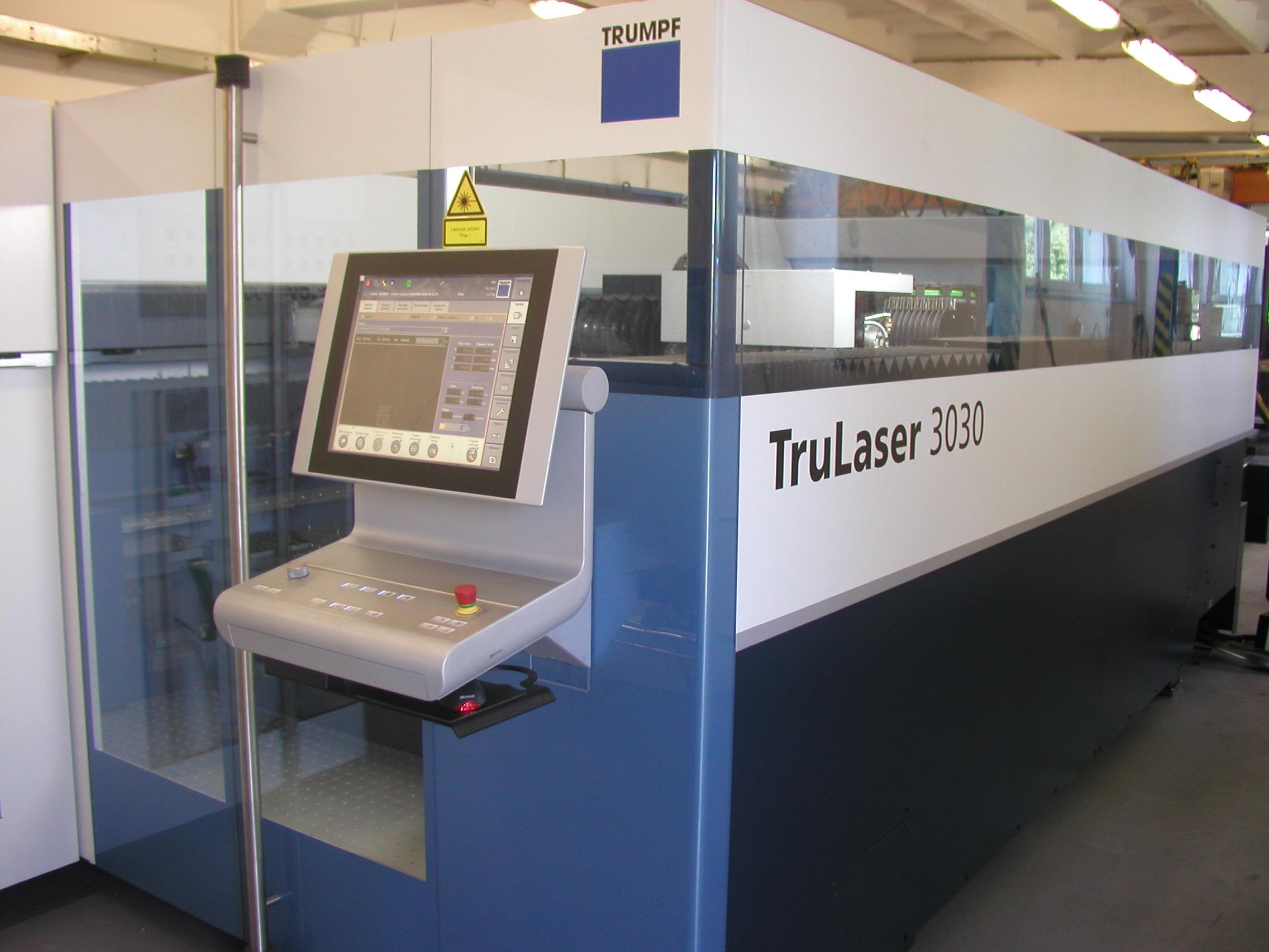 Laserové pracoviště TRUMPF – Trulaser 3030